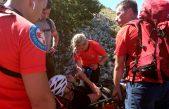 HGSS kod Baške spasio ozlijeđenu planinarku