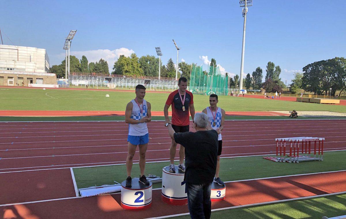 Fran Bonifačić na U23 prvenstvu Hrvatske u atletici osvojio zlato i broncu