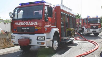 Krk: Izazvao požar u zgradi pa s teškim ozljedama završio u bolnici