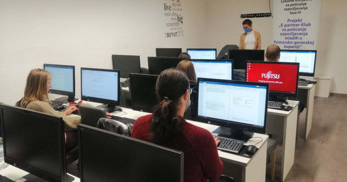Projekt e-Partner: Klub za poticanje zapošljavanja mladih u Primorsko-goranskoj županiji
