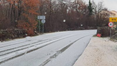 FOTO/VIDEO Dijelove otoka danas je zabijelila tuča, a neke čak i snijeg