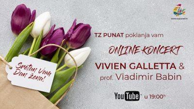 TZO Punat svim damama za Dan žena poklanja online koncert Vivien Galletta i Vladimira Babina