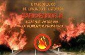 Od 1. lipnja zabranjeno je loženje vatre na otvorenom prostoru otoka Krka. Kazne su do 150 tisuća kuna