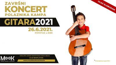 Završni koncert glazbenog kampa Gitara ove subote u Brzacu