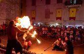 FOTO/VIDEO Drugi dan Lovrečeve u znaku srednjovjekovnog fire show spektakla